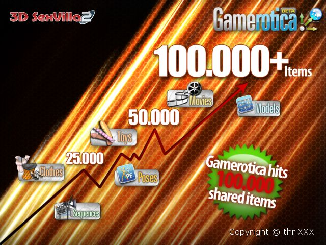Recently Gamerotica hit another huge milestone for user generated content ...
