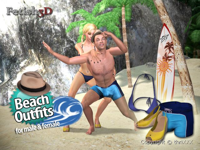 Wrap his or hers ass in the latest 'Beach BUM' fashions.
